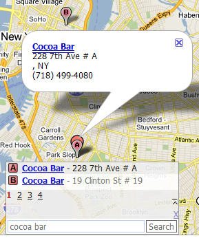 dotspott local search for cocoa bar