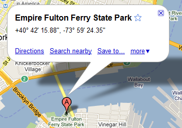 custom title on Google maps position