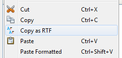 netbeans copy as rtf