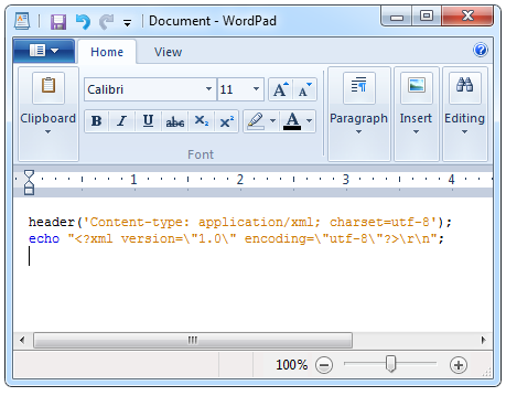 netbeans code in wordpad