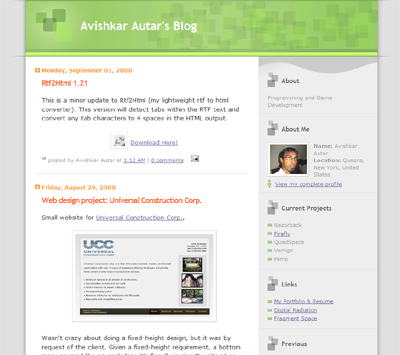 the old blog