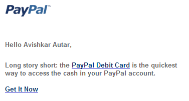 paypal debit marketing