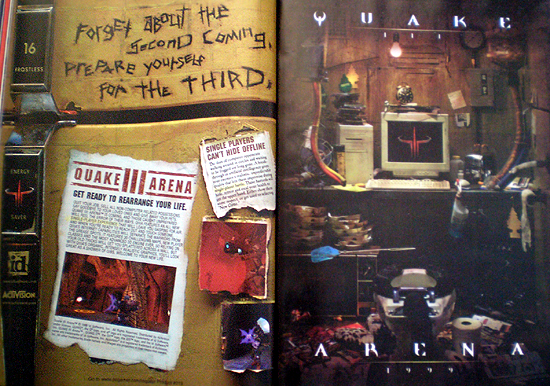 quake 3 ad from Sept. 1999 issue of PC Gamer