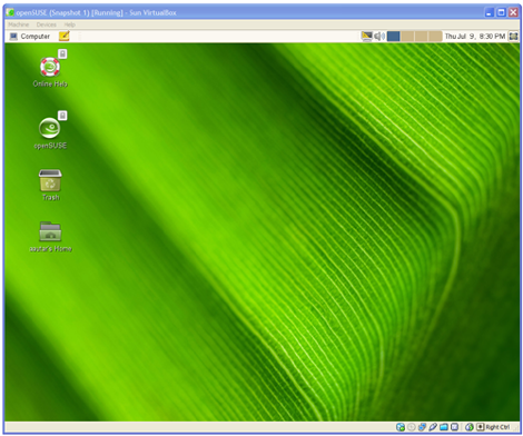 virtualbox with openSUSE