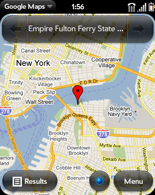 Google map location on webOS